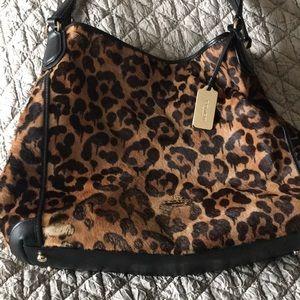 Coach large Edie ocelot calf hair purse